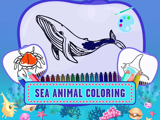 Learn Sea World Animal Game-Name Puzzle Colouring 1.6 screenshots 1