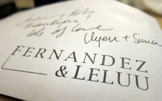 Envelope at Fernandez and Leluu Supper Club in London