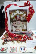 Photo: <クリスマス> 中野喜美代  聖家族(マリア様、イエス様、ヨセフ様)はカービングYのデザインです