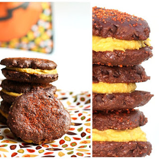 "Chocolate & Apricot ""Buttercream"" Cookie Sandwiches"