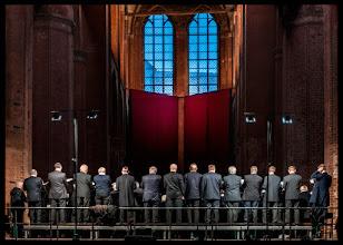 Photo: singende Männer schießen nicht - Kantorei Wismar-Warnemünde