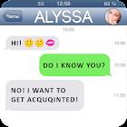 Fake SMS Girlfriend Joke icon