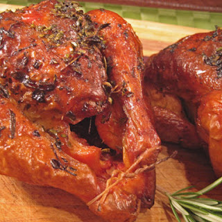 Roasted Cornish Hens with Lemon and Herbs.