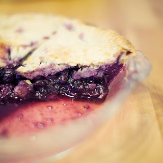 Mom's Blueberry Pie.