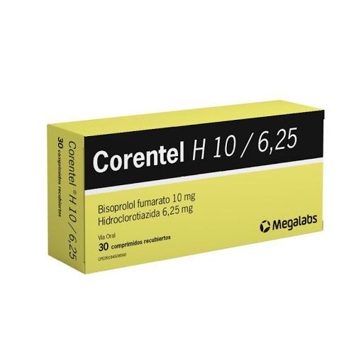 Bisoprolol + Hidroclorotiazida Corentel H 10/6,25 Mg 30Comp Megalabs