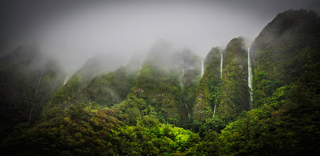 Photo: The mist rolls through the highlands and creates endless waterfalls...