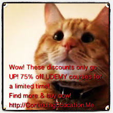 Photo: These Udemy discounts only go UP! 75% off for a limited time - find more at ContinuingEducation.Me Wow! Udemy Holiday Discounts up to 70%? Can't believe my eyes! Buy now & Save Big at ContinuingEducation.Me! #intercer #cat #pet #cats #pets #meow #petsofinstagram #beautiful #cute #animal #picpets #kitty #kitten #catlovers #learn #education #school #teach #books #programming #learning #college #udemy #holiday #backtoschool #learn2013 - via Instagram, http://instagr.am/p/UccXurpfg7/