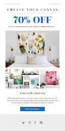 Create Your Canvas - Medium Email item
