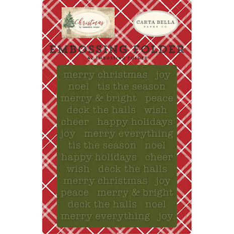 Carta Bella Embossing Folder A2 - Merry Christmas UTGÅENDE