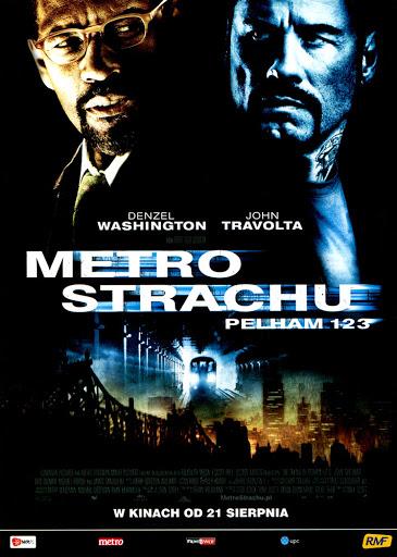 Przód ulotki filmu 'Metro Strachu'