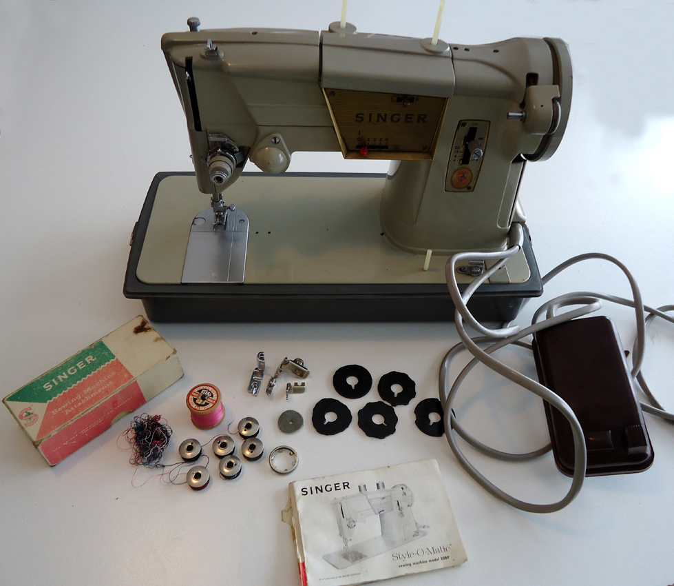 Singer The Curious Kiwi 99 K Sewing Machine Threading Diagram Advert Stated No Extra Feet But I Count Three Here Zipper Button Hemming Plus 6 Fashion Discs One In Call Them Cams And Six