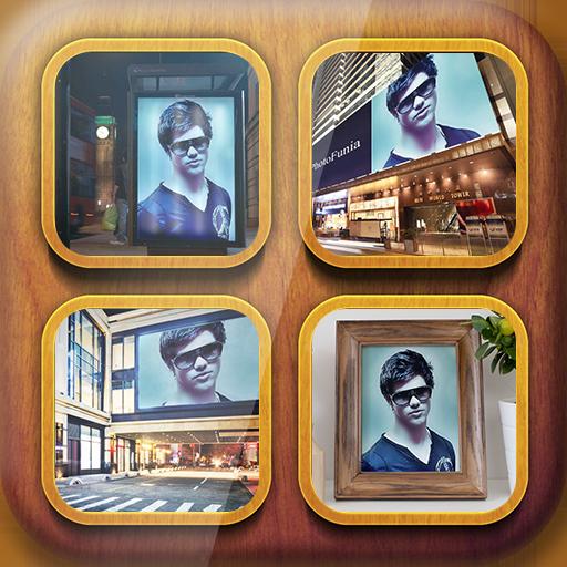 摄影の現実的なフォトフレーム LOGO-記事Game