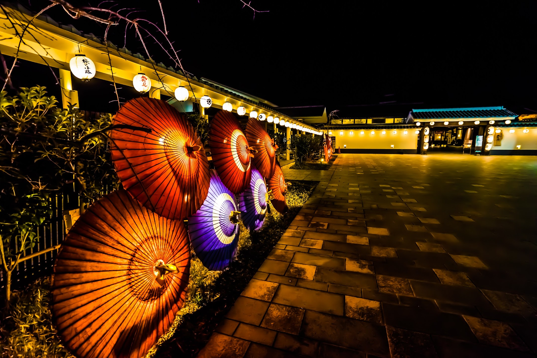 熊本 城彩苑 ライトアップ1