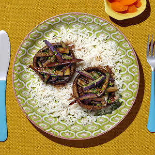 Portobello And Eggplant Stir-fry.