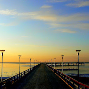 bridge by Vygintas Domanskis - Buildings & Architecture Bridges & Suspended Structures ( palanga, bridge, lithuania, seaside, evening,  )