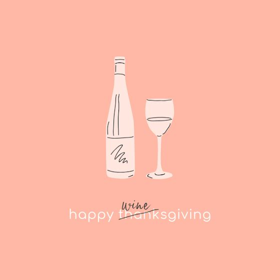Happy Winesgiving - Thanksgiving Template