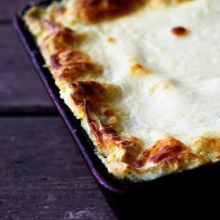 Roased Garlic Spinach Alfredo Lasagna | Make Ahead Mondays