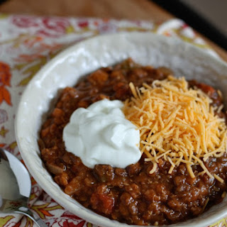 Slow Cooker Vegetarian Lentil Chili.