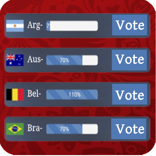 FIFA Team Rank : Live Supporters Vote