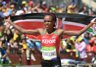 La championne olympique du marathon Jemima Sumgong est suspendue huit ans