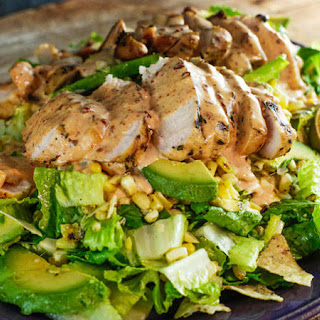 Grilled Chicken and Corn Salad with Chipotle Crema