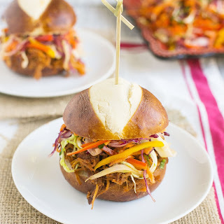 Pulled Pork Sandwiches with Rainbow Slaw