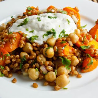 Roasted Butternut Squash and Chickpea Wheatberry Salad Recipe