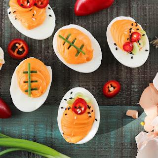 Game Day Sriracha Deviled Eggs Recipe