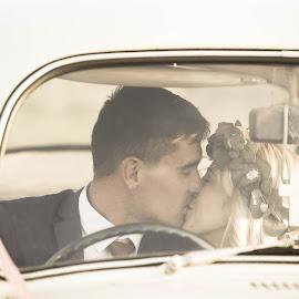 Kiss me now and tomorrow by Junita Stroh - Wedding Bride & Groom ( kiss, wedding photography, sunset, wedding day, wedding, south africa, wedding photographer, destination wedding photographers )