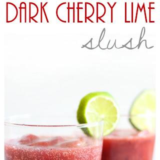Sparkling Dark Cherry Lime Slush