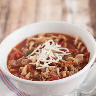 Crockpot Lasagna Soup.