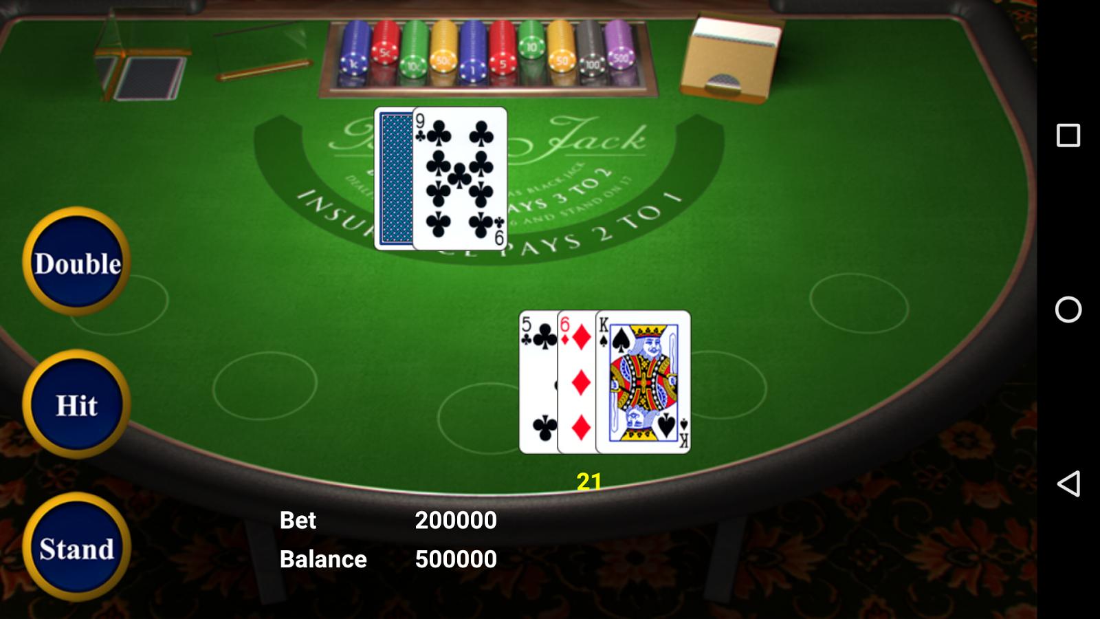 Blackjack table top view - Blackjack Screenshot