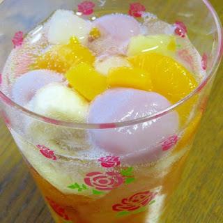Easy! Fruit Punch with Grape Dango Dumplings