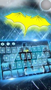 Bat Hero Keyboard Theme - náhled