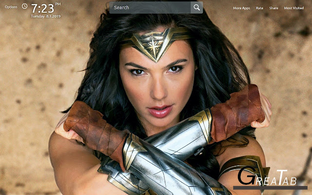 wonder woman wallpapers theme greatab google chrome