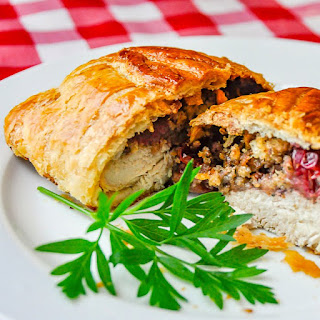 Chicken Wellington with Country Cranberry Pecan Stuffing.
