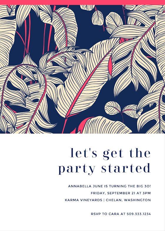 Annabella's 30th Birthday - Birthday Card Template