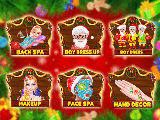 Christmas Makeup & Dress Up Salon Games For Girls  captures d'u00e9cran 2