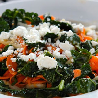 Sweet Potato and Kale Salad with Udon Noodles