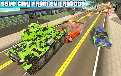 US Army Robot Transformation Jet Robo Car Tank War 1.0.4 screenshots 2