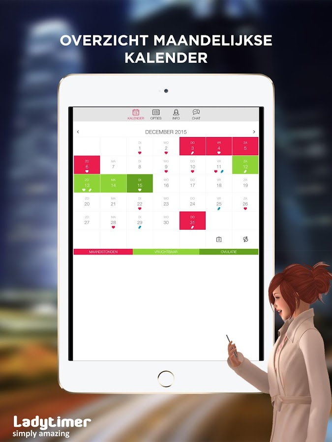 ladytimer maandstonden cyclus kalender android apps op google play. Black Bedroom Furniture Sets. Home Design Ideas