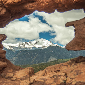 Through the Window of the Siamese Twins by Andrew Brinkman - Landscapes Mountains & Hills ( mountains, nature, color, colorado, perspective )