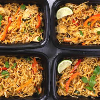 Chicken Pad Thai Meal Prep.