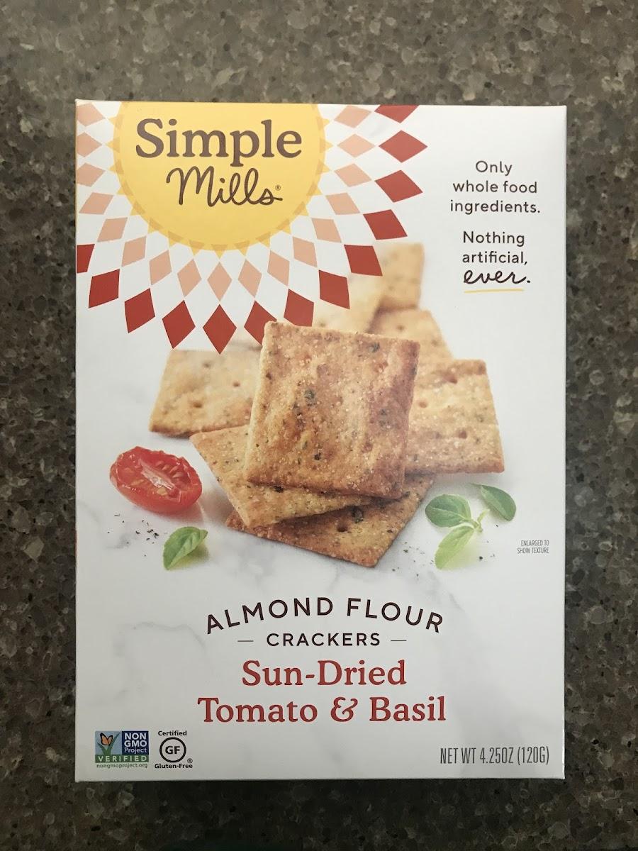 Almond Flour Crackers Sun Dried Tomato And Basil