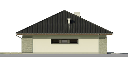 Dom przy Pastelowej - Elewacja lewa