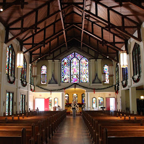 Inside Key West, FL Church by Barbara Suggs - Buildings & Architecture Places of Worship (  )