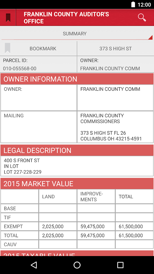 Franklin Auditor Property Search