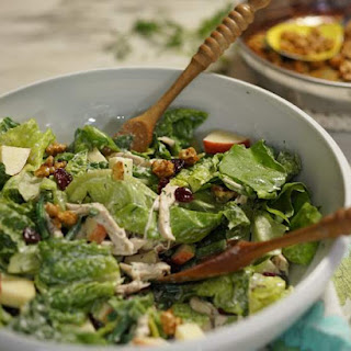 Green Salad with Chicken and Buttermilk Dressing.