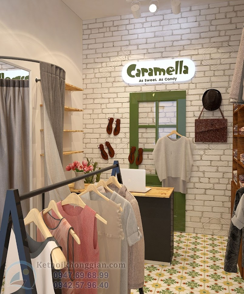 thiết kế shop mẹ và bé tại hà nội