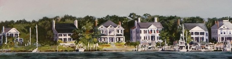 Photo: Front Street Houses on Taylor's Creek Detail from Warshaw painting